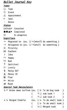 Evernote bullet journal
