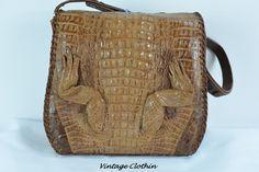 0ecd0161ba00 Rare Genuine Alligator Leather Purse, Vintage Purse, Vintage HandBag now  available for online purchase