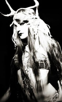 Antler headdress tribal goth belly dancer zoe jakes