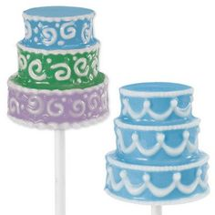 Wedding Cake Lollipop Candy Mold by Wilton 3-D