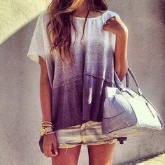 Beautiful short and T shirt summer fashion