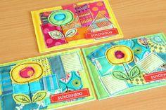 stitchydoo: Stoffgrußkarten nähen | Spontanes DIY mit Suchtfaktor | Stoffkarten, fabric cards, Malen mit der Nähmaschine, free motion applique, Applikation