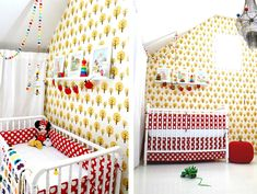 Tiny Little Pads retro scandinavian girls bedroom