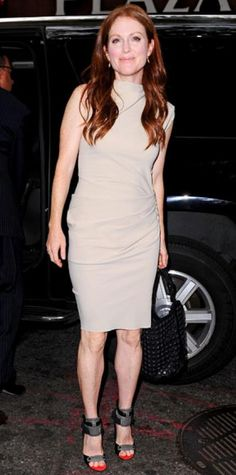 Look of the Day › July 28, 2011 WHAT SHE WORE Moore sat down with the Today crew in a gathered Lanvin design and two-tone Alexander Wang sandals