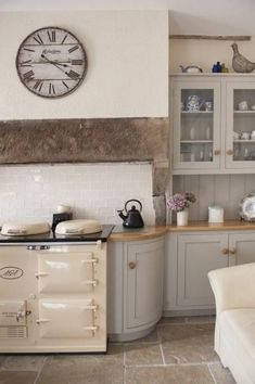 Warm yourself by the AGA every morning before rustling up the family breakfast. Warm yourself by the AGA every morning before rustling up the family breakfast. Kitchen Interior, Interior, Home, Vintage Kitchen, New Kitchen, House Interior, Home Kitchens, Cottage Kitchens, Kitchen Extension