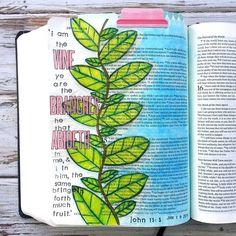 Bible Journaling by Bible Verse Art, Faith Bible, Bible John, Learn To Sketch, True Vine, Bible Illustrations, Bible Prayers, Journal Inspiration, Word Of God