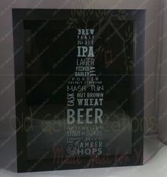 Shadow Box - Beer Cap Holder - Beer Cap Sign - Beer Bottle - Beer Sign - Beer decor - Bar decor - Bar Shadow Box - Man Cave Decor by OldGateCreations on Etsy https://www.etsy.com/listing/264351222/shadow-box-beer-cap-holder-beer-cap-sign