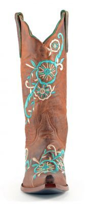 Womens Old Gringo Tyler Boots Rust And Turquoise #L585-6