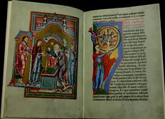 The Brandenburger Evangelistar ranks among the most precious treasures of the Brandenburger cathedral. The manuscript, written in the early century, was probably manufactured in a Magdeburger monastery school. Music Manuscript, Illuminated Manuscript, Ancient Book, Medieval Music, Late Middle Ages, European History, Caligraphy, Roman Empire, Handwriting