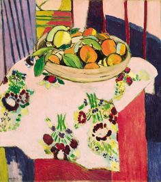 Henri Matisse - Still Life with Oranges, 1912-I can see how this could easily be turned into an elementary collage project.