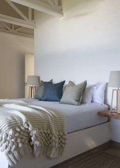 37 is a Sheffield Beach villa on the KwaZulu-Natal Dolphin coast framed and fanned by banana palms and ferns and dramatic strelitzia. Beach Accommodation, Kwazulu Natal, Beach Villa, Rental Property, South Africa, Vacation, Bed, Holiday, Furniture