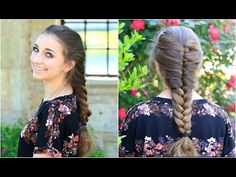 Faux French Braid | Cute Girls Hairstyles #hairstyles #cutegirlshairstyles #CGHfauxFrench #braids #frenchbraid