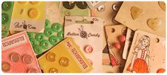mommmy's  sewing room was full of buttons on little cards