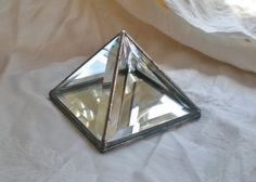 "5"" Stained Glass Pyramid  Box bevelled with mirror. $21.00, via Etsy."