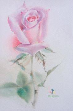 Watercolor Rose, Watercolor Cards, Watercolor Paintings, Rose Oil Painting, Fruit Painting, Draw On Photos, Botanical Art, Flower Art, Watercolors