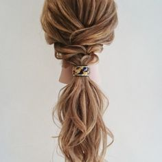 Hair for sorority recruitment Easy Hairstyles For Long Hair, Ponytail Hairstyles, Pretty Hairstyles, Wedding Hairstyles, Teenage Hairstyles, Bridal Hairdo, Bridal Hair And Makeup, Hair Makeup, Cute Ponytails