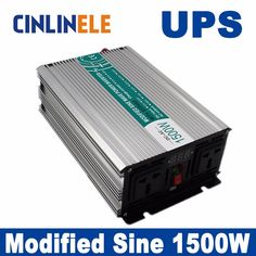 Universal inverter UPS+Charger 1500W Modified Sine Wave Invert CLM1500A DC 12V 24V 48V to AC110V AC220V  1500W Surge Power 3000W #Affiliate