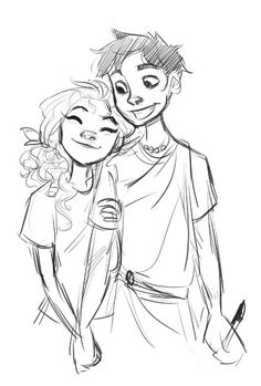 Percy Jackson and Annabeth Chase art by dellbelle39