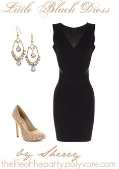 """Little Black Dress"" by thelifeoftheparty ❤ liked on Polyvore"