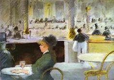 Intèrieur d'un café - Edouard Manet - Tableaux et dessins