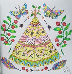 Livro Sagolikt com lápis Derwent Inktense, colorido por @lelescristiane