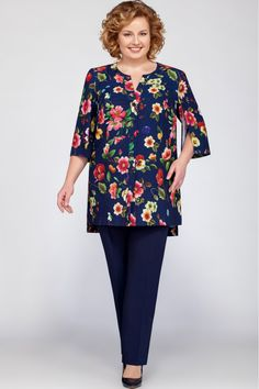 Suit trouser LaKona 1103 - Suit trouser LaKona 1103 The Effective Pictures We Offer You About outfits ideas A quality picture - Big Size Fashion, 60 Fashion, Over 50 Womens Fashion, Fashion Dresses, Kurta Designs, Blouse Designs, Plus Size Dresses, Plus Size Outfits, Mix Match Outfits