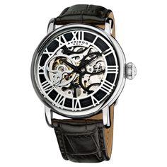 Akribos XXIV Men's Mechanical Skeleton Watch