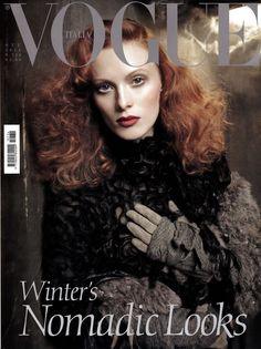 Karen Elson by Steven Meisel Vogue Italia October 2011
