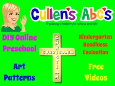 A fun and unique DIY approach to teaching preschoolers!  Great for caregivers, parents (homeschooling), and teachers!  www.cullensabcs.com