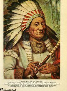 Sitting Bull from The New Standard Encyclopedia, 1943   #Indian