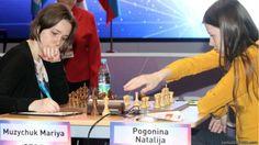 5-4-15 У Сочі українка Марія Музичук виграла жіночий чемпіонат світу з шахів, зігравши внічию з росіянкою Наталією Погоніною в четвертій, останній партії фіналу. Після партії, що почалася дебютом чотирьох коней, підсумковий рахунок склав 2,5:1,5 на користь українки. Партія напередодні також закінчилася нічиєю, однак гру перед цим українка виграла, що, зрештою, і забезпечило їй перемогу у фіналі. У 2012 році жіночий чемпіонат світу з шахів виграла харків'янка Ганна Ушеніна.