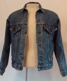 Vintage Rugged LEVI'S Men's Trucker Biker Red Tag Jean Jacket Size X-Small  XS  #Levis #MotorcycleBiker