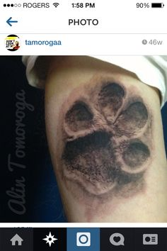 Love this pawprint tattoo idea. I want to incorporate it into my half sleeve for my echo puppy <3