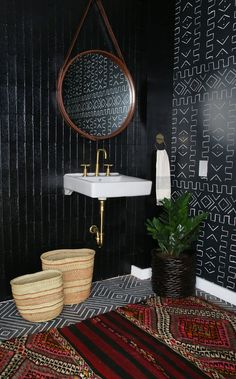 Amber Interiors Design Studio is a full-service interior design firm based in Los Angeles, California, founded by Amber Lewis. We serve clients worldwide with services ranging from interior design, interior architecture to furniture design. Decoration Inspiration, Bathroom Inspiration, Interior Inspiration, Decor Ideas, Bathroom Ideas, Wall Ideas, Bathroom Designs, Home Interior, Bathroom Interior
