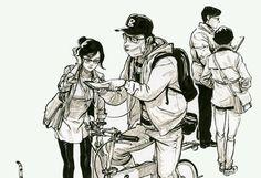 Attention, là, c'est du très très lourd... Je suis tombée ce week-end sur le livre de croquis d'un illustrateur coréen, Kim Jung-gi, et ça a été la révélation. Ce jeune prodige, enseignant de Manhw...