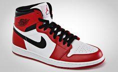 Air Jordan 1 White Red Black