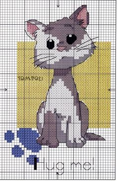 41 Ideas For Embroidery Patterns Cat Kittens Cat Cross Stitches, Cross Stitch Bookmarks, Cross Stitch Kits, Cross Stitch Charts, Cross Stitch Designs, Cross Stitching, Cross Stitch Embroidery, Cross Stitch Patterns, Loom Patterns
