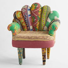 Kantha Quilted Peacock Chair - This native made chair would be a great fit for the Bohemian look.