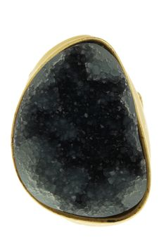 Monique Leshman  Druzy Agate Oval Ring