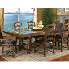 Beaumont Dining 7 piece Table Set by Coaster - 101111 by Coaster Home Furnishings. $2503.00. The Beaumont 7-Piece Dining Set by Coaster creates a scenery that will make dining a pleasure for everyone. This dining set includes a dining table, four side chairs, and two arm chairs, all crafted in a traditional design, while the set comes in a brown finish. The chairs feature vinyl cushioning for maximum comfort, while the table expands to over eight feet for extra seating. ...