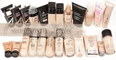 Mega-Swatch: Helle Drogerie Foundations   MAGIMANIA