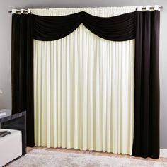 Black and white curtains Elegant Curtains, Beautiful Curtains, Curtain Styles, Curtain Designs, Home Curtains, Window Curtains, Small Room Bedroom, Master Bedroom, Home Hacks