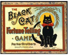 Parker Brothers, The Black Cat Fortune Telling Game, 1897. New-York Historical Society, The Liman Collection, 2000.301