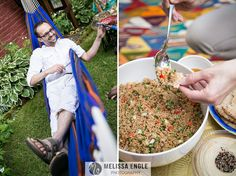 Moroccan party, hammock, Middle Eastern food