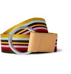 Paul Smith striped canvas belt