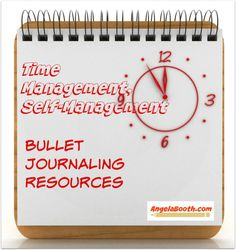 Time Management, Self-Management: Bullet Journaling -- if your writing income is suffering because you can't get organized, here's the answer: http://angelabooth.com/wp/2014/11/14/time-management-self-management-bullet-journaling/ #productivity #timemanagement