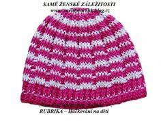 Návod na háčkovanou čepičku pro děti chladnější dny podle Tvůrčí ženy Lucky P. | SAMÉ ŽENSKÉ ZÁLEŽITOSTI ( inspirace pro ženy) Crochet Beanie Hat, Beanie Hats, Crochet Hats, Crochet Projects, Knitting Patterns, How To Make, Blog, Handmade, Flower