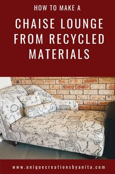 Handmade Chaise lounge made using all recycled materials that I had laying around in my workshop. - My Home Decor Diy Furniture Projects, Repurposed Furniture, Diy Craft Projects, Furniture Makeover, Home Projects, Furniture Design, Project Ideas, Apartment Decoration, Decoration Bedroom