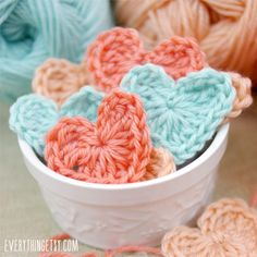 Crochet Hearts are one of the cutest crochet projects ever!  Anyone can make them in minutes...just follow along with the video!