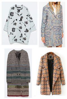 Shopping abrigos estampados . Zara, Asos, Asos, Sheinside